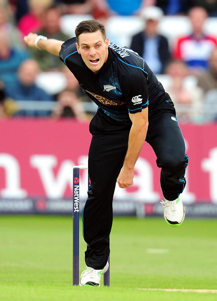 New Zealand's Mitchell McClenaghan during the Third Natwest One Day International at Trent Bridge, Nottingham.