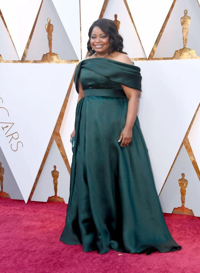 <p>Octavia Spencer attends the 90th Academy Awards in Hollywood, Calif., March 4, 2018. (Photo: Getty Images) </p>