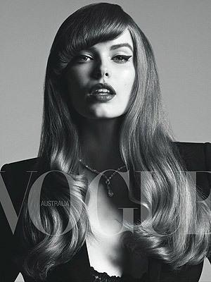 Buxom beauty Robyn Lawley features in Vogue Australia's first plus-size shoot.