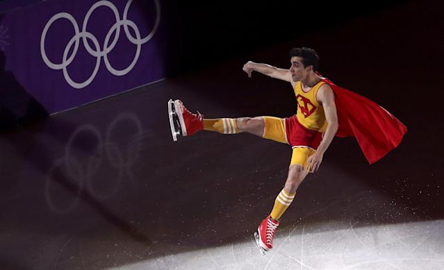 Figure Skating - Pyeongchang 2018 Winter Olympics - Gala Exhibition - Gangneung Ice Arena - Gangneung, South Korea - February 25, 2018 - Javier Fernandez of Spain performs. REUTERS/Lucy Nicholson TPX IMAGES OF THE DAY