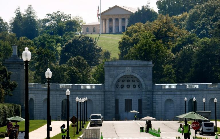 A major renovation at Arlington House, the former home of Confederate General Robert E. Lee, is elevating the voices of the enslaved population who lived there (AFP/Olivier DOULIERY)