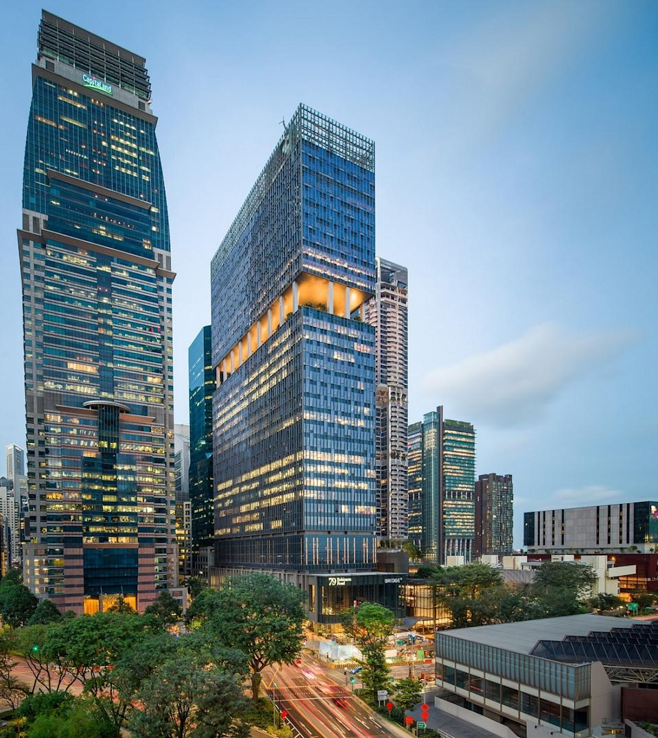 To position for growth, CapitaLand's workspace developments are enhanced with flex solutions, including coworking house brands Bridge+, The Work Project and The Workshop. (PHOTO: Capitaland)
