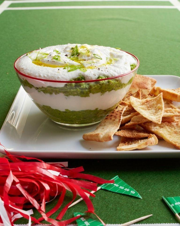 "<p>Seven-layer dip has nothing on this creamy, cheesy number.</p><p><em><a href=""https://www.womansday.com/food-recipes/food-drinks/recipes/a53333/creamy-layered-pea-dip/"" rel=""nofollow noopener"" target=""_blank"" data-ylk=""slk:Get the recipe from Woman's Day »"" class=""link rapid-noclick-resp"">Get the recipe from Woman's Day »</a></em></p>"