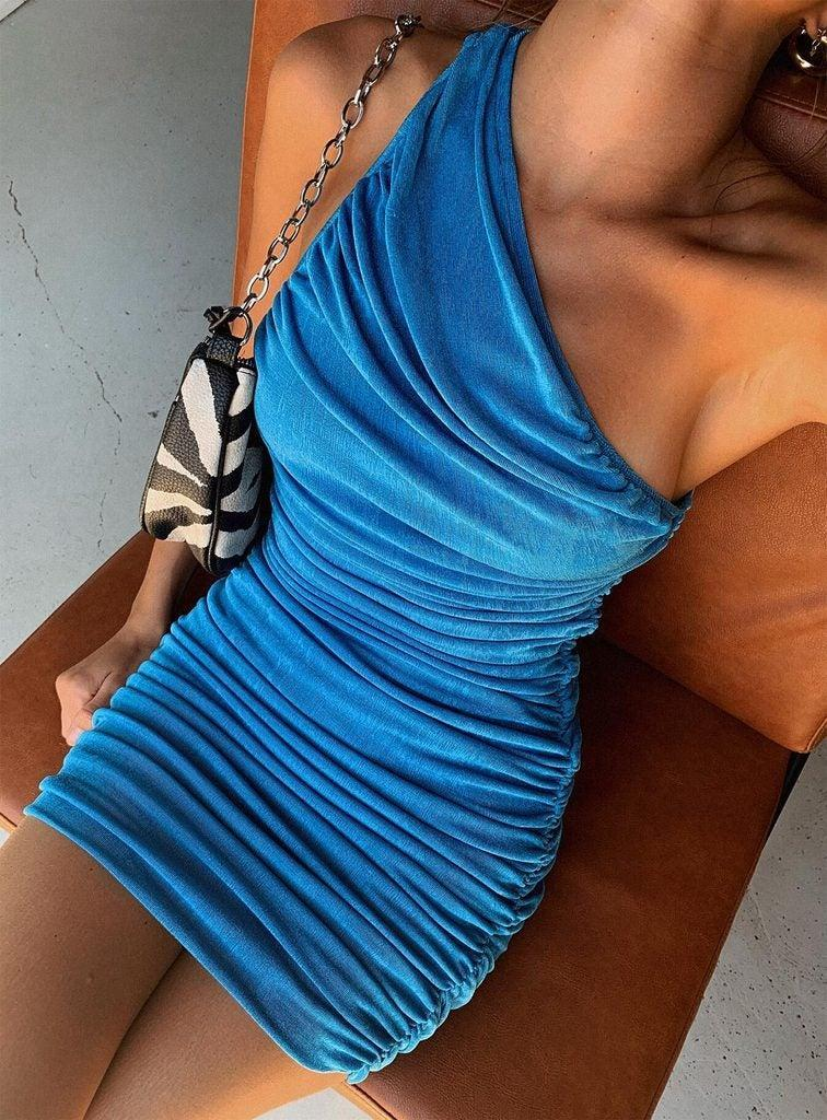 """<br><br><strong>Lioness</strong> The Goddess Mini Dress Blue, $, available at <a href=""""https://go.skimresources.com/?id=30283X879131&url=https%3A%2F%2Fus.princesspolly.com%2Fcollections%2Fmini-dresses%2Fproducts%2Fthe-goddess-mini-dress-blue"""" rel=""""nofollow noopener"""" target=""""_blank"""" data-ylk=""""slk:Princess Polly"""" class=""""link rapid-noclick-resp"""">Princess Polly</a>"""