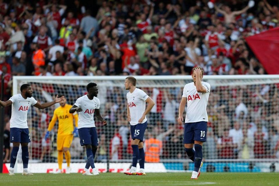 Tottenham were shambolic at times at the Emirates Stadium (IKIMAGES/AFP via Getty Images)