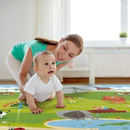 <p>This <span>Folding Play Mat</span> ($48) is great for homes without carpeting and gives your child a soft surface to play and crawl around on.</p>