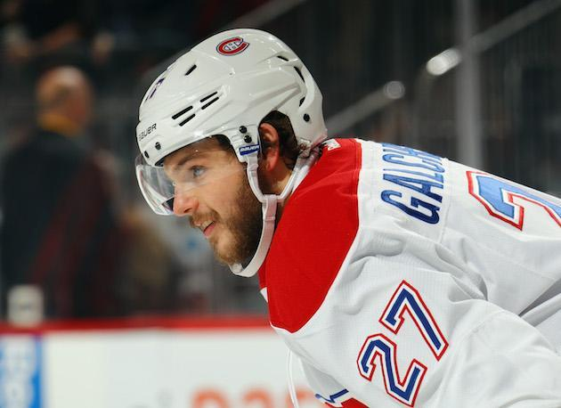 """NEWARK, NJ – FEBRUARY 27: <a class=""""link rapid-noclick-resp"""" href=""""/nhl/players/5683/"""" data-ylk=""""slk:Alex Galchenyuk"""">Alex Galchenyuk</a> #27 of the <a class=""""link rapid-noclick-resp"""" href=""""/nhl/teams/mon/"""" data-ylk=""""slk:Montreal Canadiens"""">Montreal Canadiens</a> skates against the <a class=""""link rapid-noclick-resp"""" href=""""/nhl/teams/njd/"""" data-ylk=""""slk:New Jersey Devils"""">New Jersey Devils</a> at the Prudential Center on February 27, 2017 in Newark, New Jersey. The Canadiens defeated the Devils 4-3 in overtime. (Photo by Bruce Bennett/Getty Images)"""
