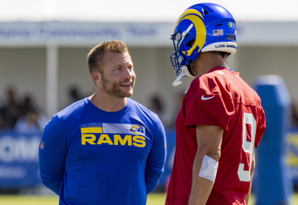 Sean McVay and the Los Angeles Rams are betting big on Matthew Stafford, who to this point doesn't have much in the way of career highlights. (Photo by Leonard Ortiz/MediaNews Group/Orange County Register via Getty Images)