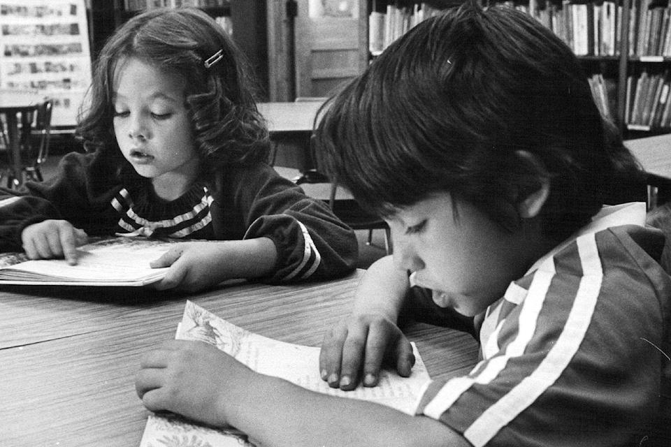 <p>Students participate in a school Read-a-Thon to raise money for people living with Multiple Sclerosis. </p>