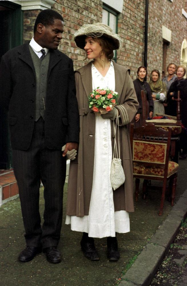 Tony Armatrading with Niamh Cusack in Catherine Cookson's TV miniseries Colour Blind, 1998.