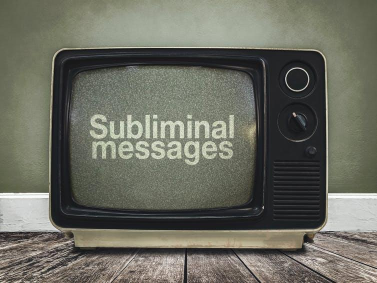 Picture of a TV with the words