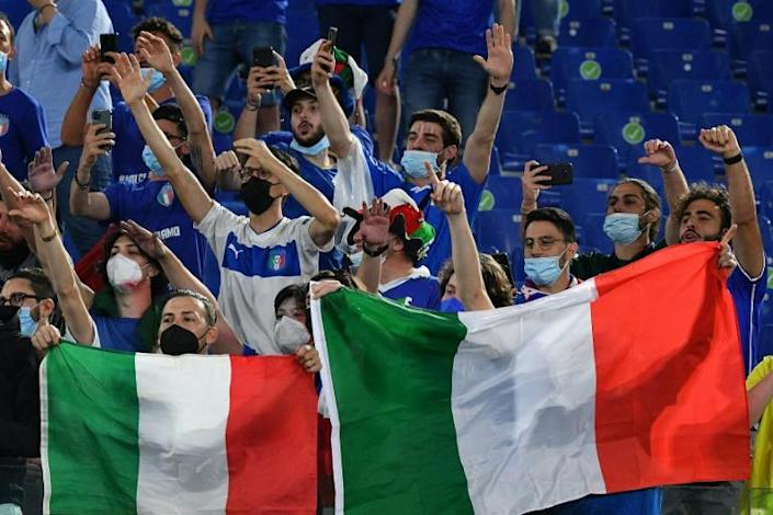 Italy supporters returned to the Stadio Olimpico