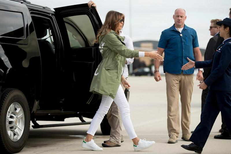 The First Lady arrived at the centre on Thursday (AP)