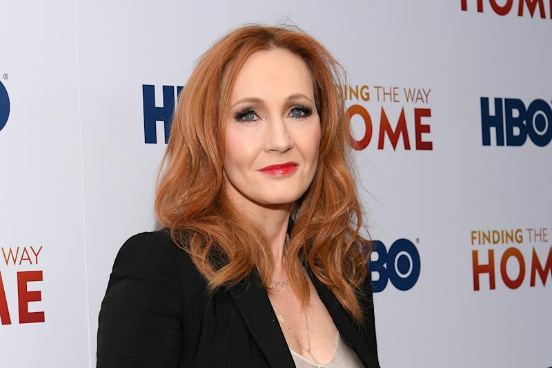 "J.K. Rowling attends HBO's ""Finding The Way Home"" World Premiere at Hudson Yards on December 11, 2019 in New York City. (Photo by Dia Dipasupil/Getty Images)"
