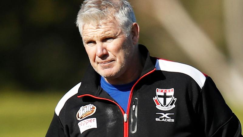 Danny Frawley, pictured here during a St Kilda training session in 2018.