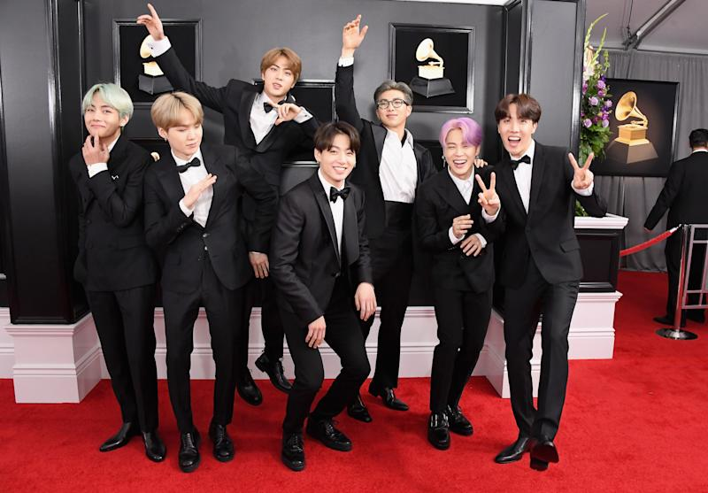 BTS Wore Matching Tuxedos at the 2019 Grammy Awards