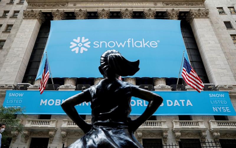 Snowflake banner across NYSE - Reuters