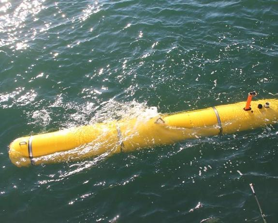 The Bluefin-21 autonomous underwater vehicle will use sonar and take pictures in the search for pieces of Amelia Earhart's plane.