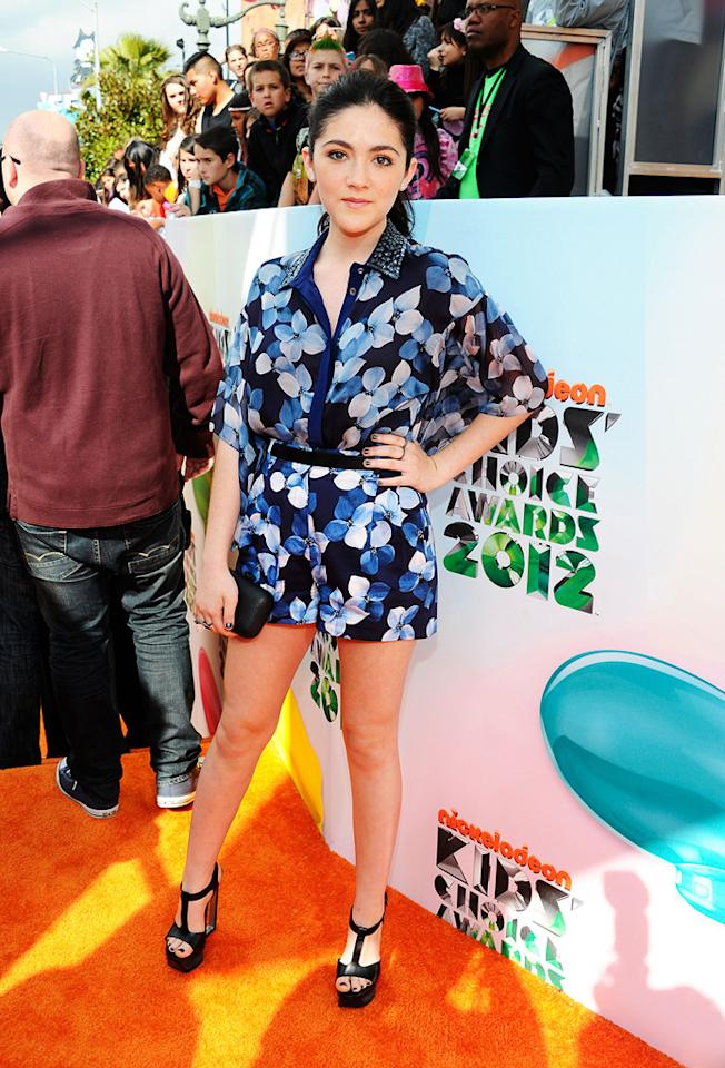 Isabelle Fuhrman arrives at the 2012 Nickelodeon Kids' Choice Awards in Los Angeles, California.