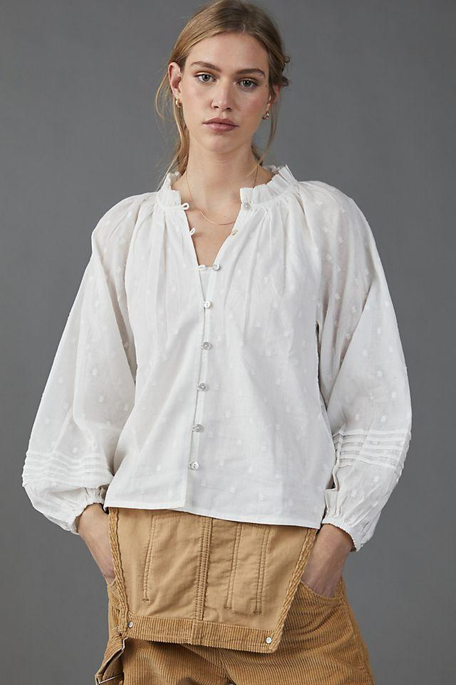 """<p><strong>Cleobella</strong></p><p>anthropologie.com</p><p><strong>$118.00</strong></p><p><a href=""""https://go.redirectingat.com?id=74968X1596630&url=https%3A%2F%2Fwww.anthropologie.com%2Fshop%2Fantonia-textured-buttondown&sref=https%3A%2F%2Fwww.townandcountrymag.com%2Fstyle%2Ffashion-trends%2Fg28904847%2Fbest-white-button-down-shirts%2F"""" rel=""""nofollow noopener"""" target=""""_blank"""" data-ylk=""""slk:Shop Now"""" class=""""link rapid-noclick-resp"""">Shop Now</a></p><p>Want a button down that will stand out from the rest of your collection? This version brings all the polish of your favorite Oxford, with a touch of texture for extra visual interest. </p>"""