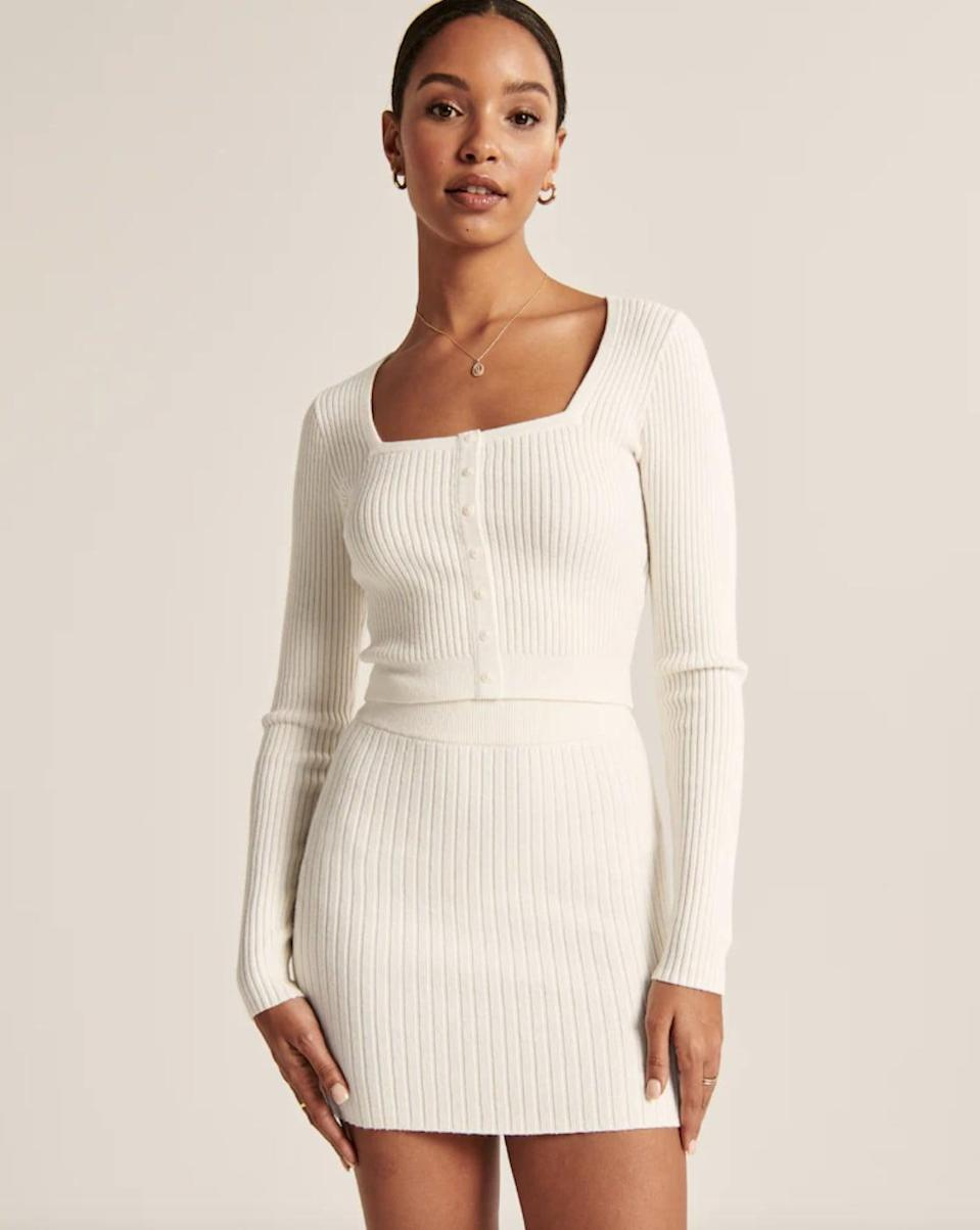 <p>Wear it with the matching <span>Abercrombie &amp; Fitch Sweater Mini Skirt</span> ($55) for the ultimate spring set.</p>