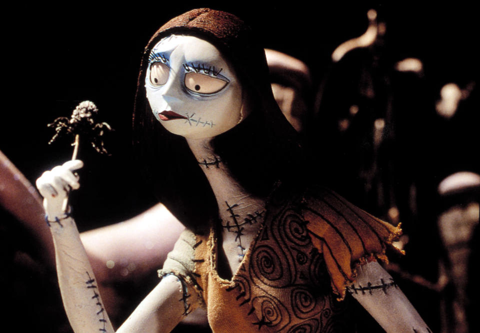 Sally, voiced by Catherine O'Hara, in <em>The Nightmare Before Christmas.</em> (Image: Disney/Buena Vista Pictures/Everett Collection)