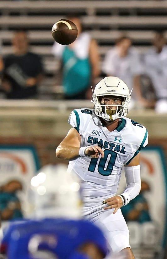 Coastal Carolina's Grayson McCall is completing an FBS-best 82.5% of his passes on 12.7 yards per attempt.