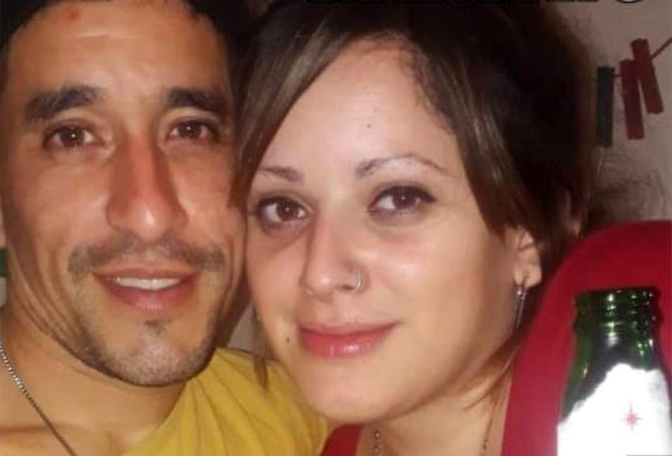 The victim Elba Eliana Mendilaharzu and her ex-partner Marcos Ponce. (Newsflash)