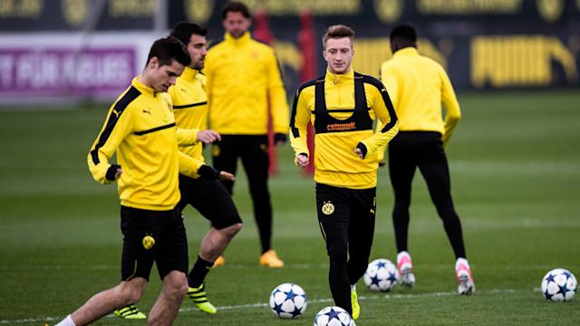 Marco Reus has failed to recover from a thigh injury and will play no part in the Champions League quarter-final first leg against Monaco.