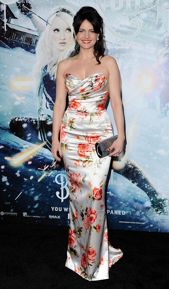 """<a href=""""http://movies.yahoo.com/movie/contributor/1800024683"""">Carla Gugino</a> at the Los Angeles premiere of <a href=""""http://movies.yahoo.com/movie/1810133258/info"""">Sucker Punch</a> on March 23, 2011."""