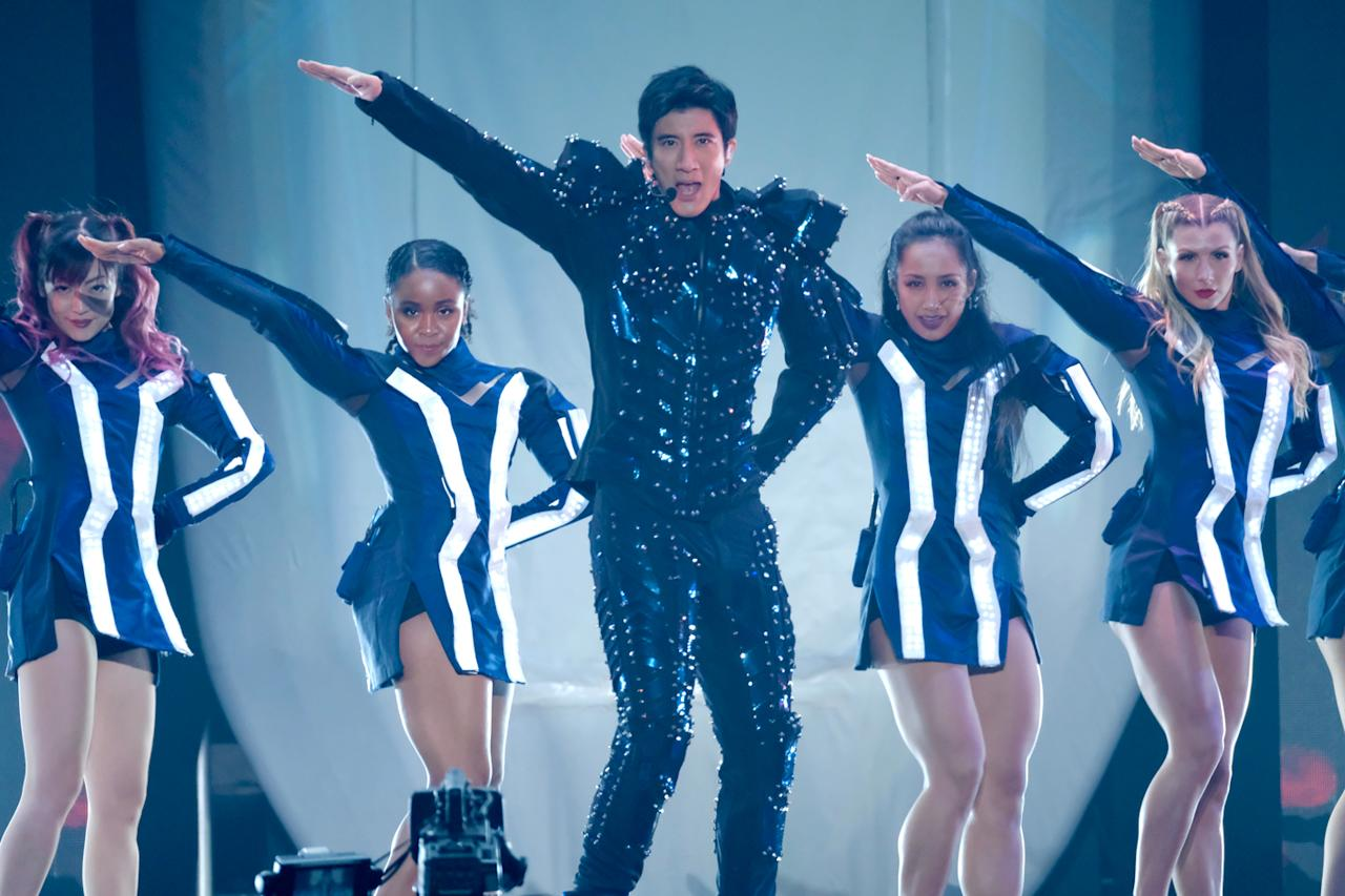 <p>Mandopop star Wang Leehom performing at the Singapore Indoor Stadium on Saturday (5 January) night. (PHOTOS: Unusual Entertainment) </p>