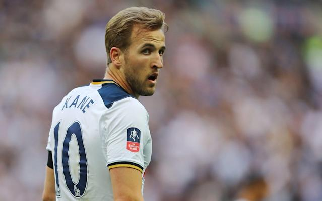 Harry Kane scored Tottenham's first in their FA Cup semi-final defeat to Chelsea - Rex Features