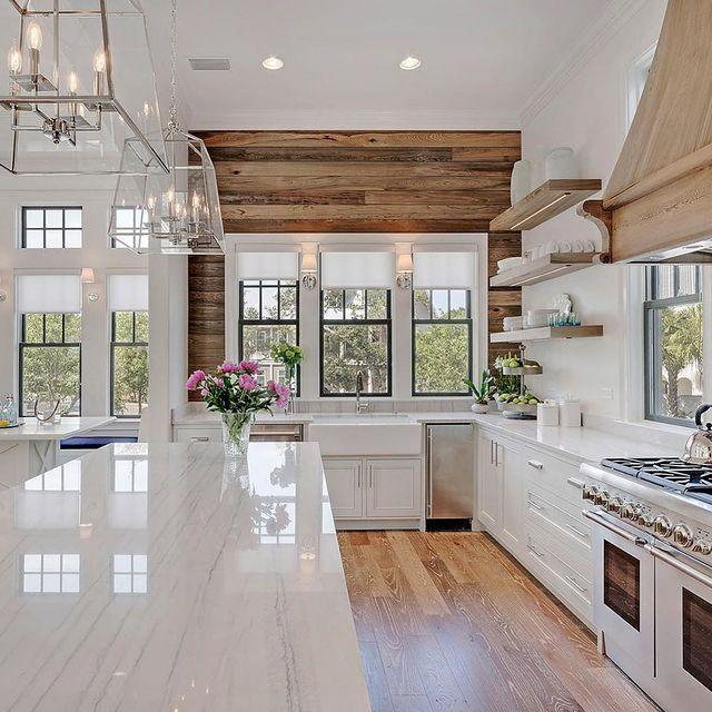 "<p>Lighting is everything in a kitchen—not only for being able to see what you're cooking and eating, but to set a mood, too. Sirna predicts thoughtful, dimmable accent lighting to be a major focus of kitchen design for 2021. ""This saves electricity while shining a glamorous light on the dark void created between countertops and cabinets,"" she says. As a bonus? You can spotlight eye-appealing kitchenware (like <a href=""https://www.southernliving.com/kitchen-assistant/best-stand-mixer"" rel=""nofollow noopener"" target=""_blank"" data-ylk=""slk:colorful stand mixers"" class=""link rapid-noclick-resp"">colorful stand mixers</a>!) and pretty cookbooks, too, transforming these everyday objects into works of art.</p>"