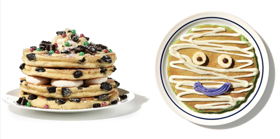 IHOP Announced Its Fall Menu Including Milk 'N' Cookies Pancakes Topped With Oreos And Sprinkles
