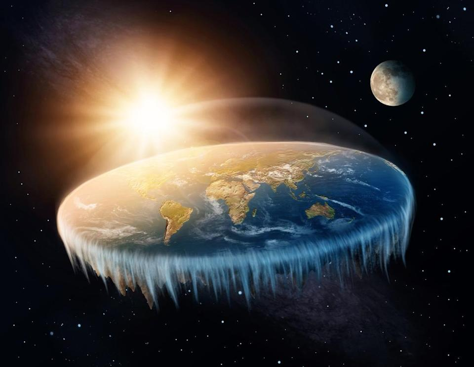 Many believers in a flat Earth think the planet is a flat disk surrounded by an ice wall (Picture Getty)