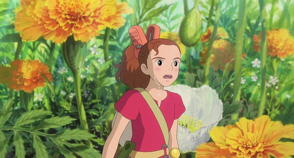 """Every time I watch a Studio Ghibli movie, it takes my heart away. I love their magical stories and their world building and their animation. The movie revolves around a family of four-inch-tall people who live anonymously in another normal family's residence, borrowing simple items to make their home. Life changes for the Clocks when their teenage daughter, Arrietty, is discovered. You can watch it on <a href=""""https://www.netflix.com/search?q=Arrietty&jbv=70216227&jbp=0&jbr=0"""" rel=""""nofollow noopener"""" target=""""_blank"""" data-ylk=""""slk:Netflix"""" class=""""link rapid-noclick-resp"""">Netflix</a>. <br>"""