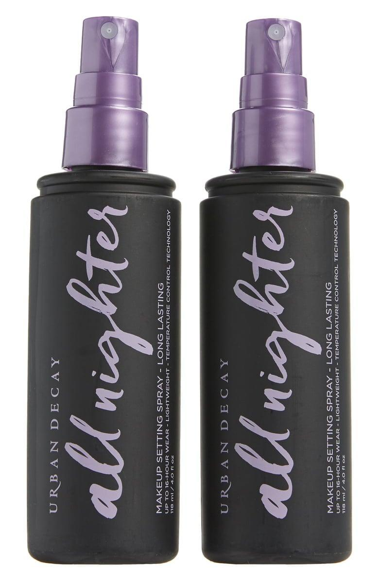 <p>If they're wearing makeup under their mask, they need this <span>Urban Decay Full Size All Nighter Long-Lasting Makeup Setting Spray Duo</span> ($36, originally $42).</p>