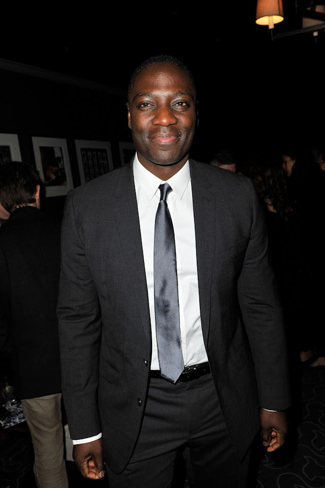 LONDON, ENGLAND - APRIL 27:  WorldView and Sundance Institute Award winner Adewale Akinnuoye-Agbaje at the BIG Sundance London Party during Sundance London at Filmmaker Lounge, Alphabet City on April 27, 2012 in London, England.  (Photo by Gareth Cattermole/Getty Images for Sundance/AEG Europe)