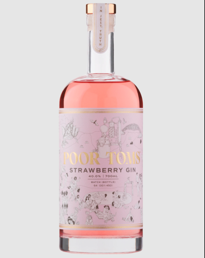 Photo: Poor Toms Strawberry Gin 700mL