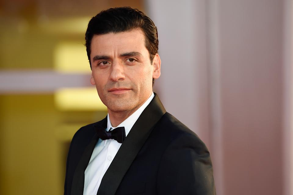 VENICE, ITALY - SEPTEMBER 04: American actor Oscar Isaac on the red carpet of the movie