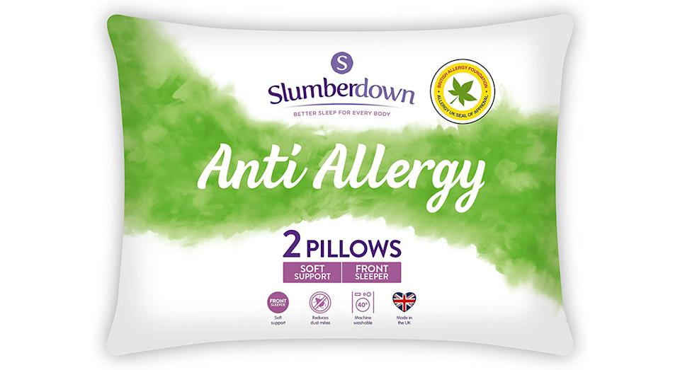 Slumberdown Anti Allergy White Pillows