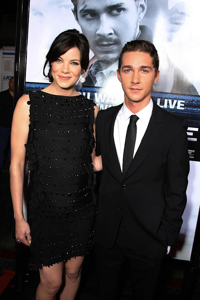 "<a href=""http://movies.yahoo.com/movie/contributor/1804504037"">Michelle Monaghan</a> and <a href=""http://movies.yahoo.com/movie/contributor/1804503925"">Shia LaBeouf</a> at the Los Angeles premiere of <a href=""http://movies.yahoo.com/movie/1809955918/info"">Eagle Eye</a> - 09/16/2008"