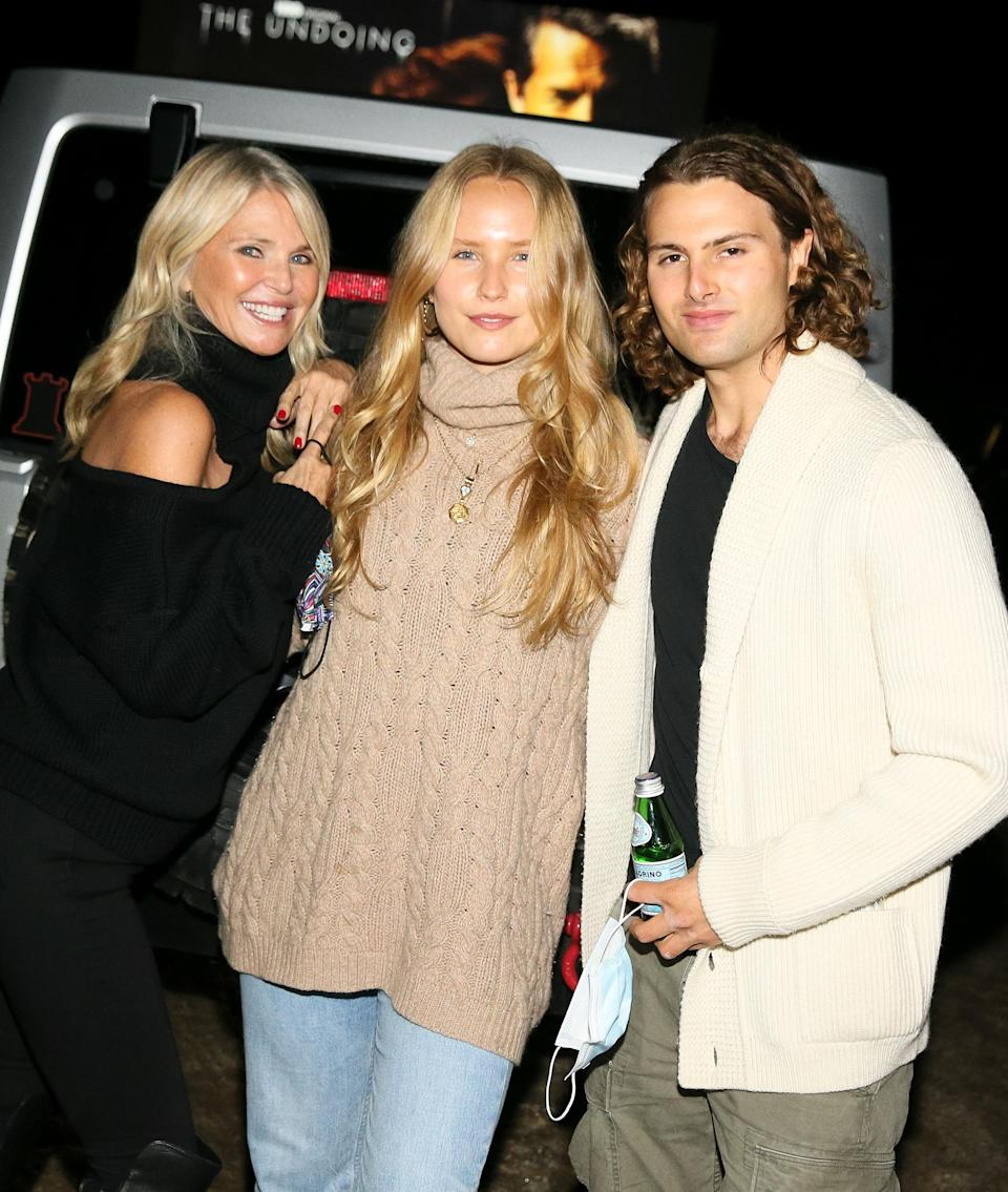 <p>Christie Brinkley and her kids Sailor and Jack Brinkley-Cook are all smiles at a Hamptons drive-in for HBO's <em>The Undoing</em>, which received a long car-honking ovation at the end.</p>