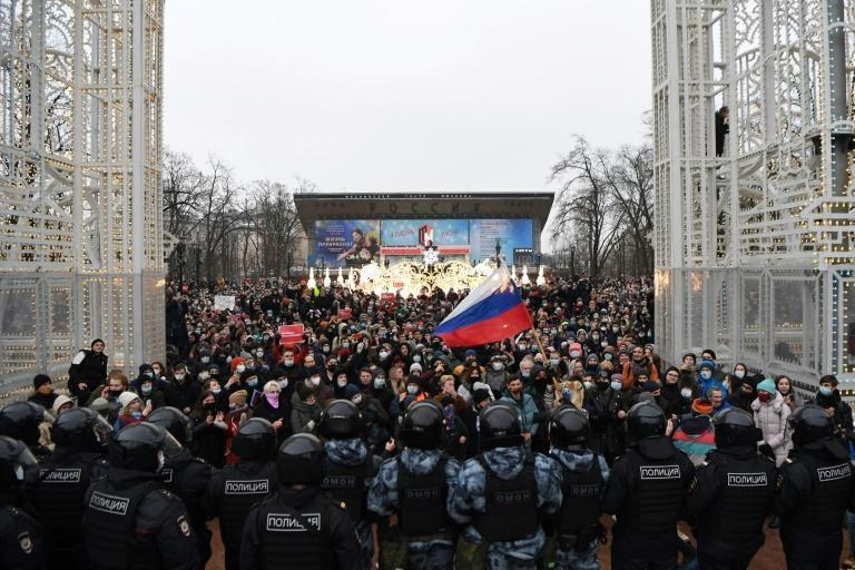 Thousands of demonstrators were arrested at rallies across Russia last weekend