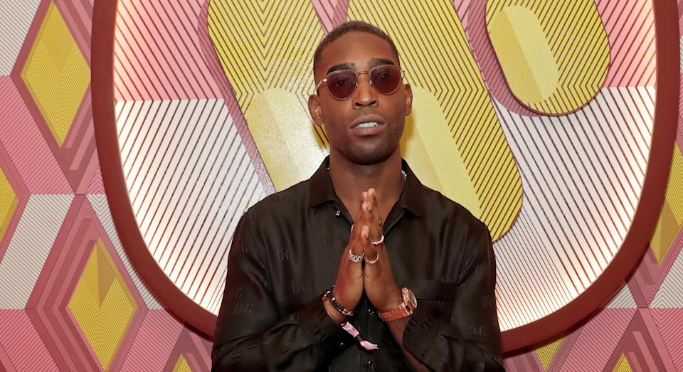 """Tinie Tempah shared his annoyance at finding his British Airways plane seat """"dirty"""" [Image: Getty]"""