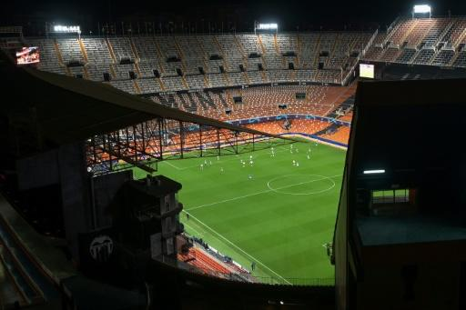Valencia's Mestalla stadium was empty for their Champions League game against Atalanta this week. Matches across the continent are being played behind closed doors, if at all