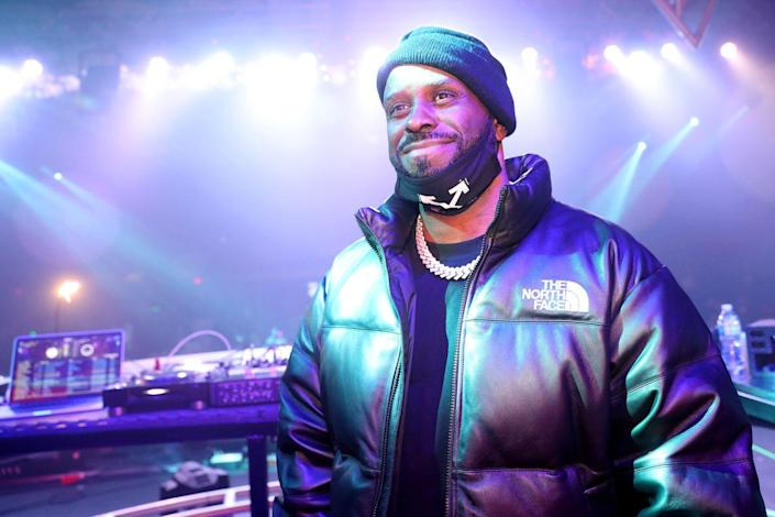 <p>Funkmaster Flex is still DJ-ing and making music! Here he is at a Super Bowl party in February 2021. </p>