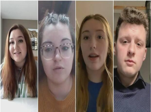 High school students are heading back to class next week after two months studying at home. Here's what they have to say about virtual school — and what they want for the weeks ahead.  (CBC - image credit)
