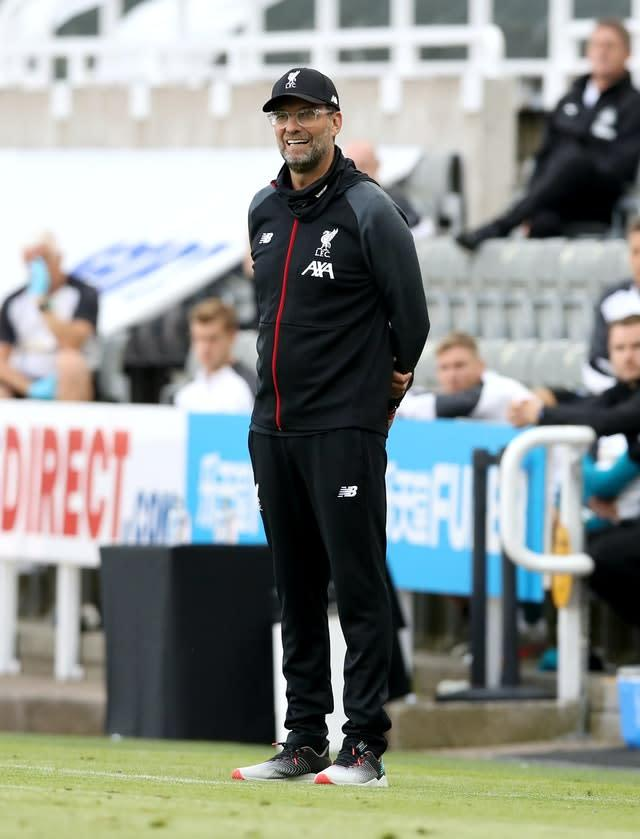 Jurgen Klopp saw his men end with another win (Owen Humphreys/PA)