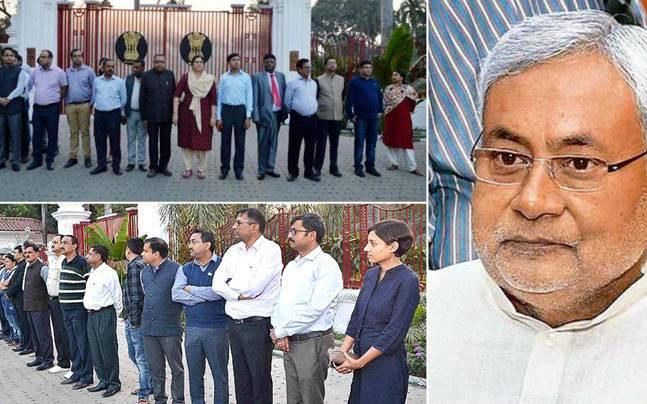 Bihar: Nitish government serves notice to two dozen IAS officers seeking explanation over Raj Bhawan protest